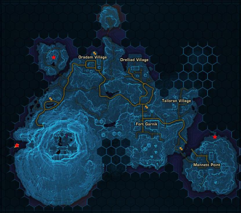 Ord Mantell Datacron map